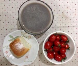 紅豆蕎麥黑芝麻飲 bread, espresso & 豆漿黑豆吐司