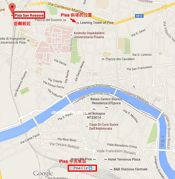 Pisa San Rossore Google 地圖