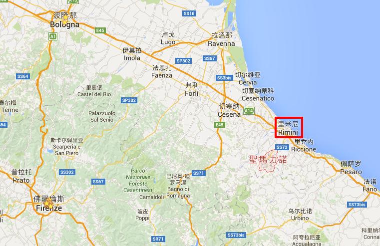 聖馬力諾   Google 地圖